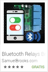 Aplicacion para Controlar Relays por medio de Bluetooth, llamada: Bluetooth Relays Brooks