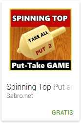 Android APP Spinning Top Put and Take Game