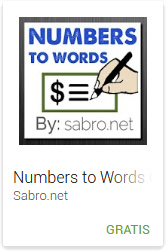 Android APP to Convert Numbers to Words, App para escribir numeros en ingles