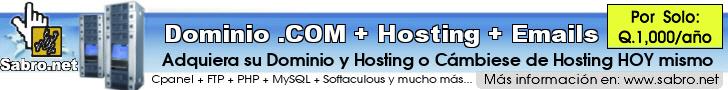 Dominio Hosting y Emails con Cpanel en Guatemala
