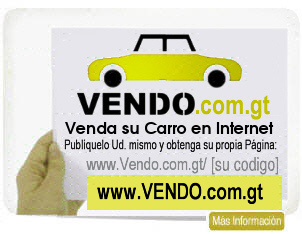 Predio Virtual de Carros en Guatemala, Venda o compre su carro e internet a traves de www.vendo.me